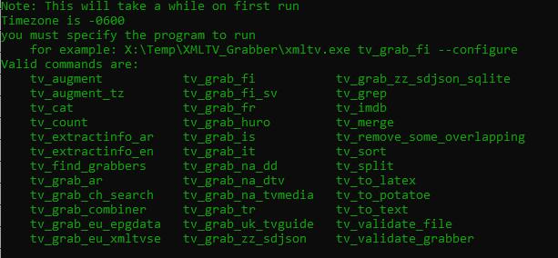 XMLTVlistings.com Grabbers List
